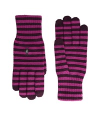 Smartwool Striped Liner Glove Aubergine Berry Extreme Cold Weather Gloves Aubergine Berry