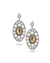 Opera Gold Center Oval Drop Earrings Coomi