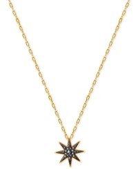Swarovski Gold Tone Firework Black Crystal Pendant Necklace