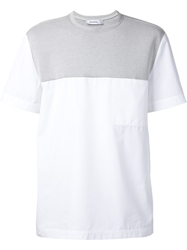 Tim Coppens Panelled T Shirt White