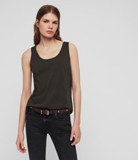 Allsaints Emelyn Tonic Tank Washed Black