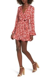 The Fifth Label Women's Ophelia Floral Print Wrap Dress Spice Linear Rose