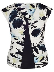 Chesca Floral Print Camisole Ivory Ink