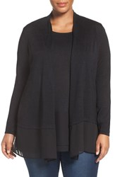 Nic Zoe Plus Size Women's Chiffon Trim Cardigan