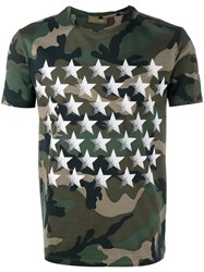 Valentino Camustars T Shirt With Butterfly Green