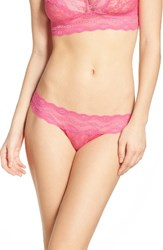 B.Tempt'd Women's By Wacoal 'Lace Kiss' Thong Pink Yarrow