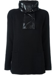 Moncler Padded Collar Knitted Jumper Black