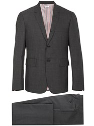 Thom Browne Super 120 Twill Two Piece Suit Wool Cupro Grey