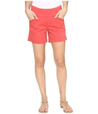 Jag Jeans Ainsley Pull On 5 Shorts In Bay Twill Coral Spice Women's Shorts Orange