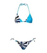 Emilio Pucci Graphic Print Tie Side Triangle Bikini Female Multi