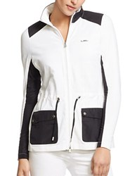 Lauren Ralph Lauren Colorblock Mockneck Jacket White