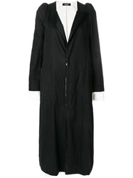 Undercover Classic Single Breasted Coat Black