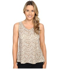Woolrich Elemental Printed Tank Silver Gray Women's Sleeveless