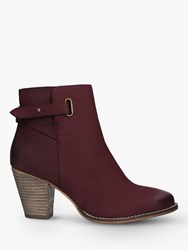 Carvela Wide Fit Smart Leather Ankle Boots Red