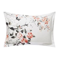 Sanderson Magnolia And Blossom Coral Oxford Pillowcase