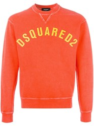 Dsquared2 Printed Logo Sweatshirt Yellow Orange