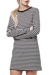 Women's Topshop Stripe Long Sleeve Tunic Dress