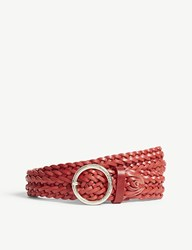 Claudie Pierlot Braided Leather Belt Red
