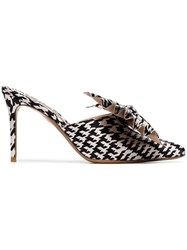 Alexandre Vauthier Black And White Kate 90 Houndstooth Print Bow