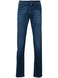 Jacob Cohen Faded Straight Leg Jeans Blue