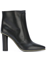 Balmain Quilted Knee High Boots Black