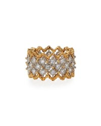 Buccellati Rombi 18K Gold Diamond Ring 1.02 Tdcw