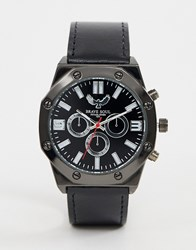 Brave Soul Chronograph Watch With Black Strap