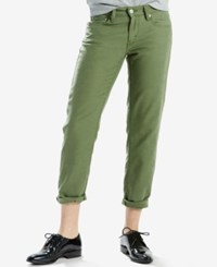 Levi's New Boyfriend Fit Jeans Bronze Green Fade
