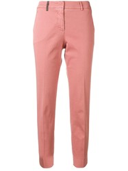 Peserico Cropped Slim Fit Jeans Pink