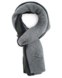 Hackett Grey Scarf Multi Ivy