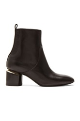 Nicholas Kirkwood Leather Ankle Booties In Black