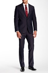 Kenneth Cole Reaction Two Button Notch Lapel Suit Purple