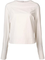 Song For The Mute Round Neck Top Nude Neutrals