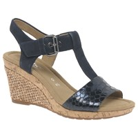 Gabor Karen Wide Wedge Heeled Sandals Ocean