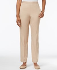 Alfred Dunner Pull On Pants Stone