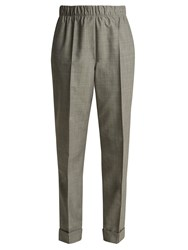 Helmut Lang Tailored Wool And Mohair Blend Trousers Grey