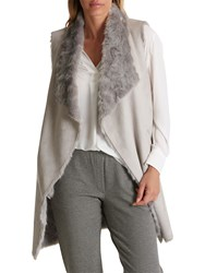 Betty Barclay Faux Fur Gilet Light Silver