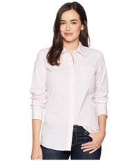 Ariat Kirby Stretch Shirt White Pink Stripe Long Sleeve Button Up