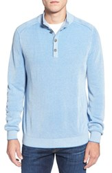 Men's Tommy Bahama 'Sydney Shores' Long Sleeve Thermal Henley Rip Tide