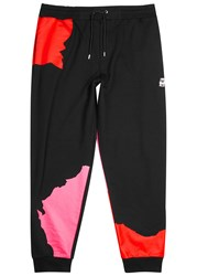 Mcq By Alexander Mcqueen Black Appliqued Cotton Jogging Trousers