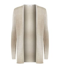 Lamberto Losani Open Front Cardigan Female Brown