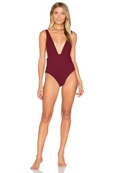 Skye And Staghorn Plunge One Piece Burgundy