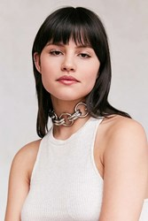 Urban Outfitters Tri Circle Statement Choker Necklace Silver