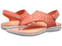 Ryka Scamper Coral Reef Peach Nectar Aqua Haze Women's Sandals Orange