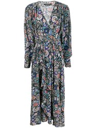 Isabel Marant Floral Maxi Dress Black