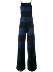 Tommy Hilfiger Strappy Striped Jumpsuit Black