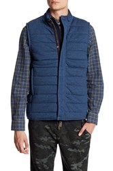 Benson New York Reversible Quilted Vest Blue