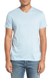 Vilebrequin Men's V Neck T Shirt Sky Blue