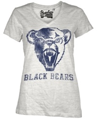 Royce Apparel Inc Women's Short Sleeve Maine Black Bears T Shirt White