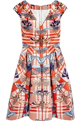 Temperley London Arielle Printed Satin Twill Dress